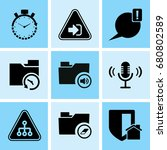 set of 9 web icons such as... | Shutterstock .eps vector #680802589