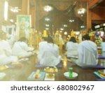 women are worshiping buddha... | Shutterstock . vector #680802967