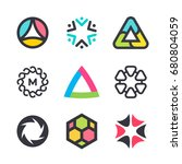 vector symbols and icons for... | Shutterstock .eps vector #680804059