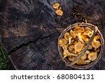 mushrooms chanterelle in the... | Shutterstock . vector #680804131