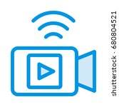 wifi video recorder icon   Shutterstock .eps vector #680804521