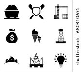 set of 9 miscellaneous icons... | Shutterstock .eps vector #680810695