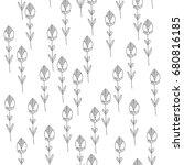 vector flower pattern. seamless ... | Shutterstock .eps vector #680816185
