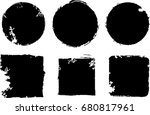 grunge post stamps collection ... | Shutterstock .eps vector #680817961