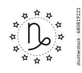capricorn. sign of the zodiac.... | Shutterstock .eps vector #680819221