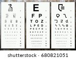 chart to test visual acuity... | Shutterstock . vector #680821051