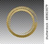 round grunge golden frame on... | Shutterstock .eps vector #680823079