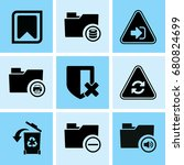 set of 9 web icons such as... | Shutterstock .eps vector #680824699