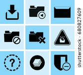 set of 9 web icons such as... | Shutterstock .eps vector #680827609