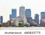 skyscrapers in canary wharf  a... | Shutterstock . vector #680835775