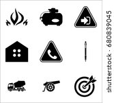 set of 9 miscellaneous icons... | Shutterstock .eps vector #680839045