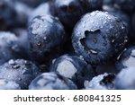 Wet Fresh Blueberry Background...
