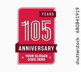 105 years anniversary design... | Shutterstock .eps vector #680841919