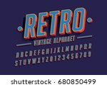 vector of bold modern font and... | Shutterstock .eps vector #680850499