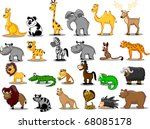 extra large set of animals... | Shutterstock .eps vector #68085178