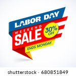 labor day weekend sale banner... | Shutterstock .eps vector #680851849