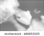 abstract halftone dotted... | Shutterstock .eps vector #680852035