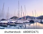 Yachts Parking In Harbor At...