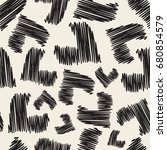 seamless monochrome  heart...   Shutterstock .eps vector #680854579
