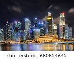 amazing night view of... | Shutterstock . vector #680854645