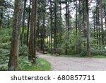 hiking trail through natural ... | Shutterstock . vector #680857711