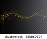 glowing magical wave of glitter ... | Shutterstock . vector #680860924