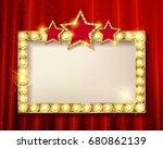 frame cinema stars. on the... | Shutterstock . vector #680862139