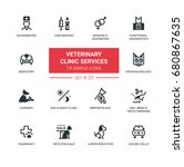 veterinary clinic services  ... | Shutterstock .eps vector #680867635