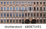 vintage architecture classical... | Shutterstock . vector #680871451