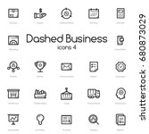 business black line icons set... | Shutterstock .eps vector #680873029