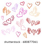 vector illustration hand drawn...   Shutterstock .eps vector #680877061