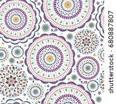 vector seamless pattern in boho ... | Shutterstock .eps vector #680887807