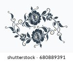 luxury flower motif design      Shutterstock .eps vector #680889391