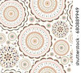 vector seamless pattern in boho ... | Shutterstock .eps vector #680889949