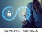 fingerprint authentication.... | Shutterstock . vector #680893765