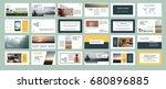 original presentation templates ... | Shutterstock .eps vector #680896885
