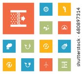 set of 12 bio icons set...   Shutterstock .eps vector #680897314