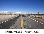 Damaged Desert Highway In...