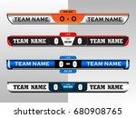 scoreboard digital screen... | Shutterstock .eps vector #680908765