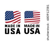 made in usa sign  icon  label.... | Shutterstock .eps vector #680912581