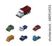isometric car set of car ...