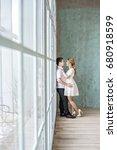 a loving beautiful couple... | Shutterstock . vector #680918599
