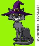 cartoon halloween cat | Shutterstock .eps vector #680921884