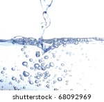 water bubbles isolated on white ...   Shutterstock . vector #68092969