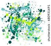 paint splatter vector... | Shutterstock .eps vector #680931691