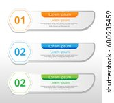 vector steps  progress banners... | Shutterstock .eps vector #680935459