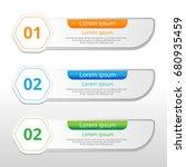 vector steps  progress banners... | Shutterstock .eps vector #680935459