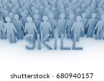 skill. large group of stick... | Shutterstock . vector #680940157