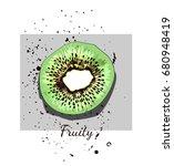design print for t shirt. hand... | Shutterstock .eps vector #680948419