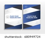 blue abstract triangle theme... | Shutterstock .eps vector #680949724